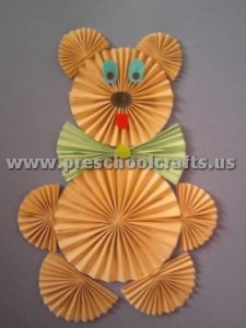 accordion bear craft ideas for kids