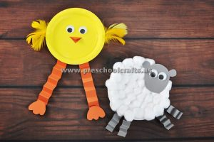 accordion chick and sheep craft ideas
