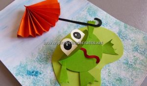 accordion frog craft ideas