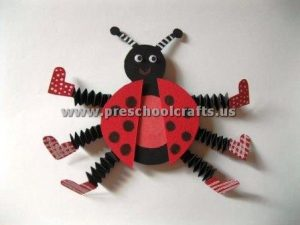 accordion ladybug crafts for kids