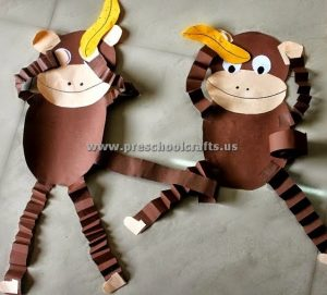 accordion monkeys craft ideas for preschool