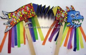 accordion paper dragons crafts for kids