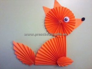 accordion paper fox crafts