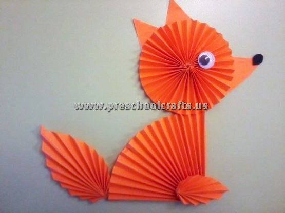 Accordion Paper Fox Crafts Preschool Crafts