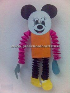 accordion paper micky mouse craft ideas for kids