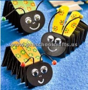 bee accordion animals craft ideas for kids