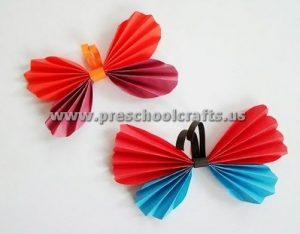 butterfly accordion animals craft ideas for kids