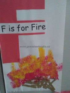 fire craft idea for letter f