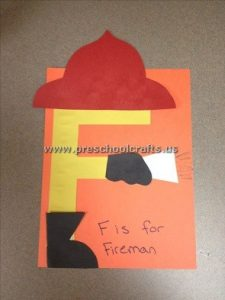 fireman letter f craft ideas for kids