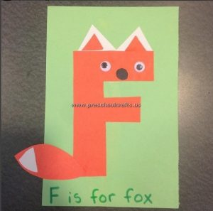 fox craft ideas for letter f