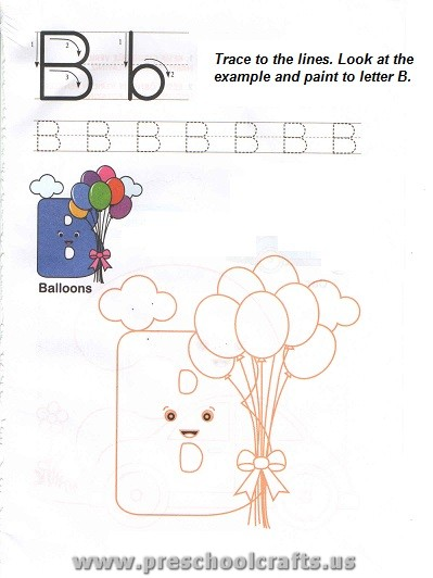 free capital letter b worksheet for preschool - Preschool Crafts