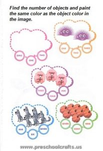free colored numbers worksheets for kids