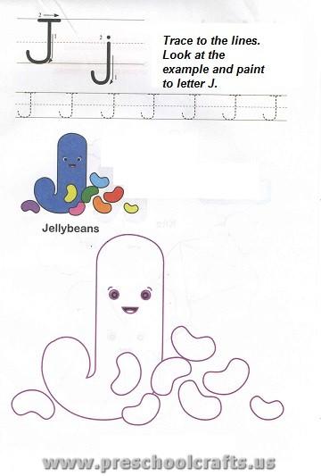 free printable letter j worksheet for preschool preschool crafts. Black Bedroom Furniture Sets. Home Design Ideas