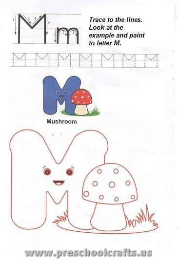 free printable letter m worksheet for preschool preschool crafts. Black Bedroom Furniture Sets. Home Design Ideas