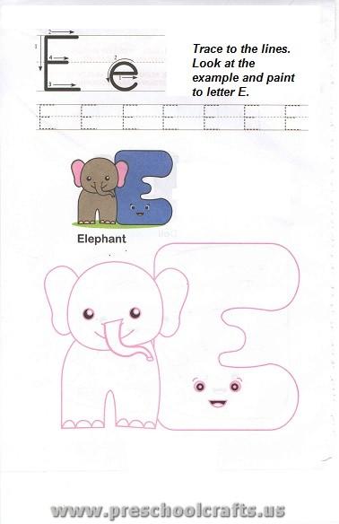 free uppercase letter e worksheet for preschool preschool crafts. Black Bedroom Furniture Sets. Home Design Ideas