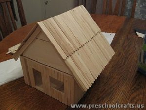 Model of a house for kids project