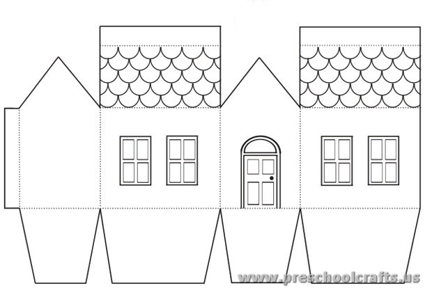 House projects free templates for kids preschool crafts for Free house projects