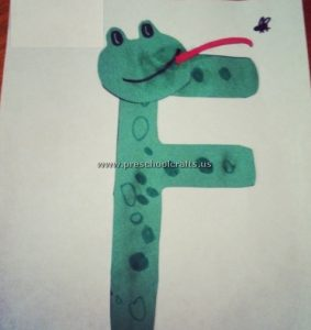 letter f craft is for frog