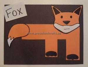 letter f fox craft ideas