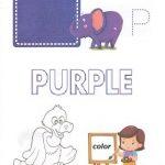 p is for purple coloring page
