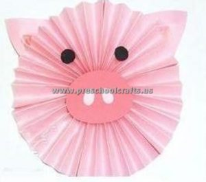 pig accordion animals crafts for kids