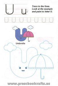printable free letter u worksheets for preschool