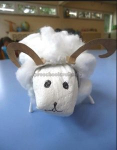 sheep craft idea for preschool