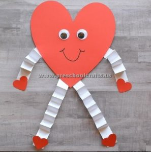Valentines day crafts for preschool and kindergarten for Toddler valentine craft ideas