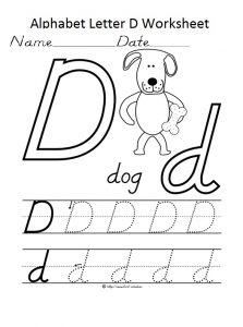 Alphaber letter d worksheet