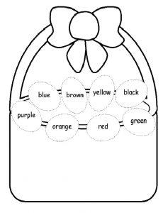 Colorin Easter Worksheet for Preschool
