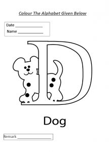 Colour the alphabet letter d