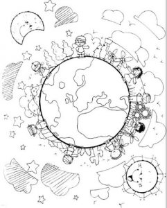 Day for the Elimination of Racial Discrimination coloring pages for preschool
