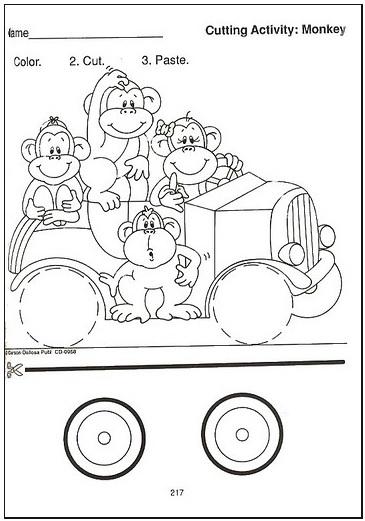 Preschool Cut And Paste Worksheets : Easter color cut paste worksheet for preschool