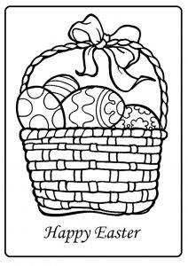 Easter Coloring Pages Sheet for preschool