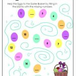 Easter Egg Fill in the Numbers Worksheet for Preschool