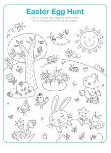 Easter Egg Hunt Worksheet for Kindergarten