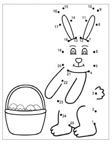 Free Printable Happy Easter Worksheet for Preschool