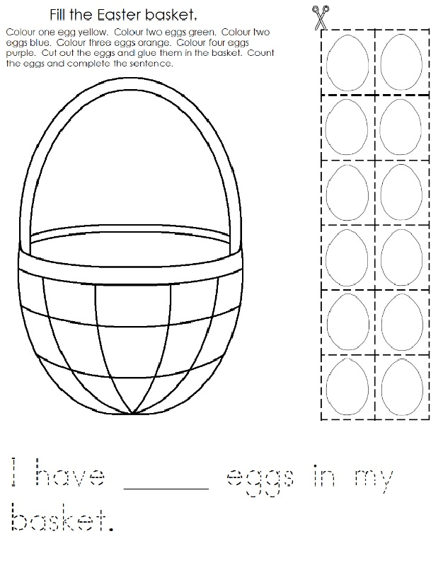 Happy Easter Worksheet for Preschool Cut and Paste Preschool Crafts – Preschool Cut and Paste Worksheets