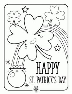 Happy St. Patrick's Day coloring pages for preschool
