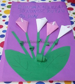 Internetional women 39 s day craft ideas for kids preschool for International arts and crafts