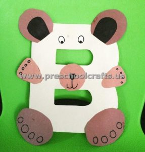 Letter B is for bear