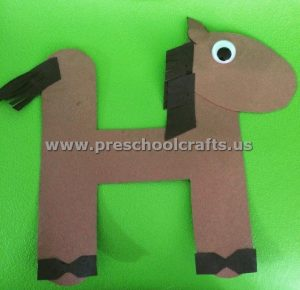 Letter H is for horse