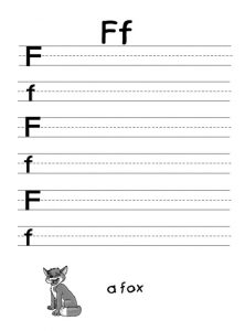 Letter f worksheet for preschooler