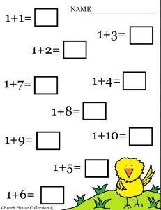 Math worksheet addition worksheet for preschool