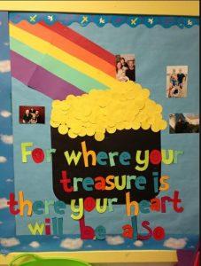 Rainbow Saint Patrick's Day Bulletin Board