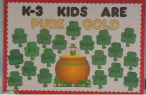Saint Patrick's Day Bulletin Board for Kindergarten