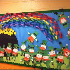 Saint Patrick's Day Rainbow Bulletin Board Ideas