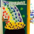 Saint Patrick's Day class door Bulletin Board