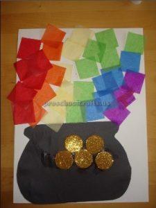 St. Patrick's Day Rainbow craft ideas for kindergarten