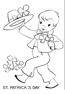 St. Patrick's Day coloring pages for kids free printable
